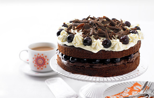 This delicious gateau is bold on flavour