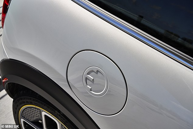 The Mini Electric stands out from a standard Mini thanks to a unique wheel design that resembles a British-style 3-pin electric plug and plenty of plug motifs dotted around the exterior trim
