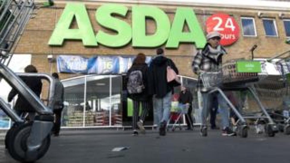 Exterior of an Asda store