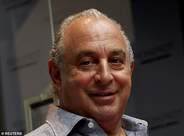Under pressure: Sir Philip Green'sArcadia owns High Street brands including Topshop, Wallis and Dorothy Perkins