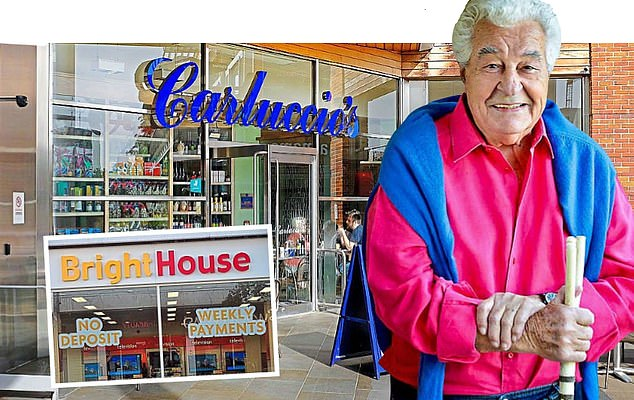 Bankruptcy: The late Antonio Carluccio with his restaurant chain, and (inset), a Brighthouse store