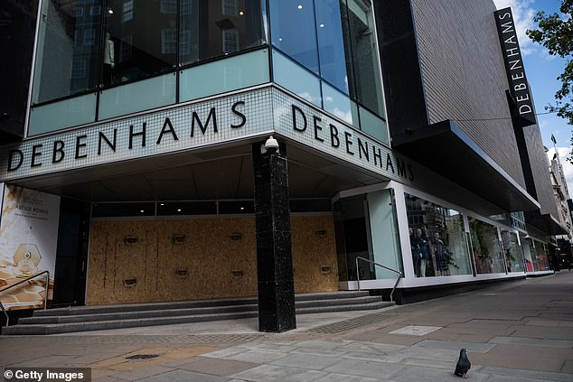 Up to 22,000 jobs are at risk as Debenhams announced it was going in to administration, the company blamed 'unprecendeted circumstances as the country remains in lockdown