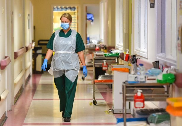 Medical staff on the Covid-19 ward at the Neath Port Talbot Hospital in Wales