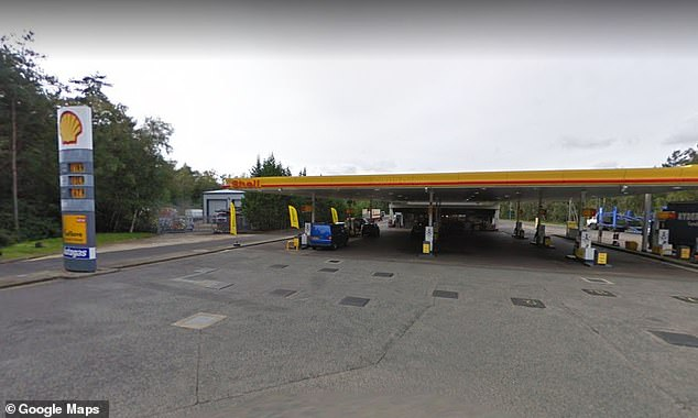 Fleet Services on the M3 (pictured) is also charging sky-high petrol prices of 133.9p-a-litre
