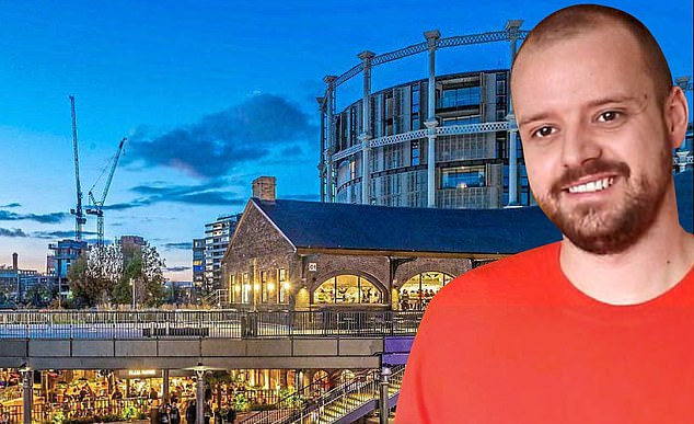 Andy Leek, pictured, wants his art to help spread optimism as people return to King's Cross