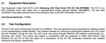 The FCC also tested the new LED View Cover