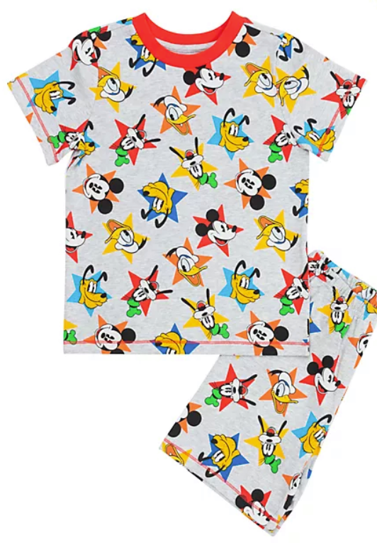 These PJs feature classic Disney characters like Mickey Mouse and Pluto