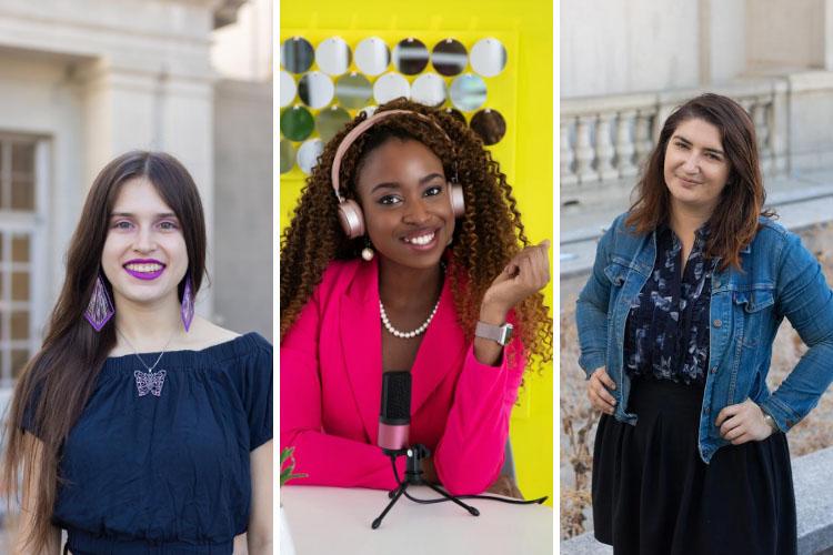 Portraits of the three creators of the Rated R Project, Rachael Cornejo, Pearlé Nwaezeigwe and Lili Siri Spira