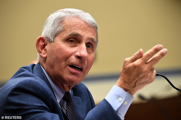 Dr Anthony Fauci called the rising daily infections 'disturbing' and said he disagreed with the president's optimism that the US is 'rounding a corner