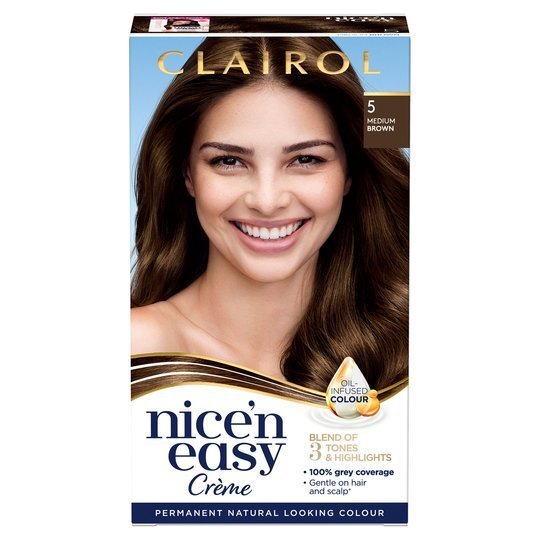 Give your hair a makeover with Clairol Nice 'N' Easy medium brown dye from Tesco while saving £1