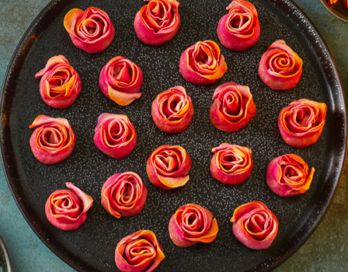 These prawn roses could make a pretty addition to your Christmas table