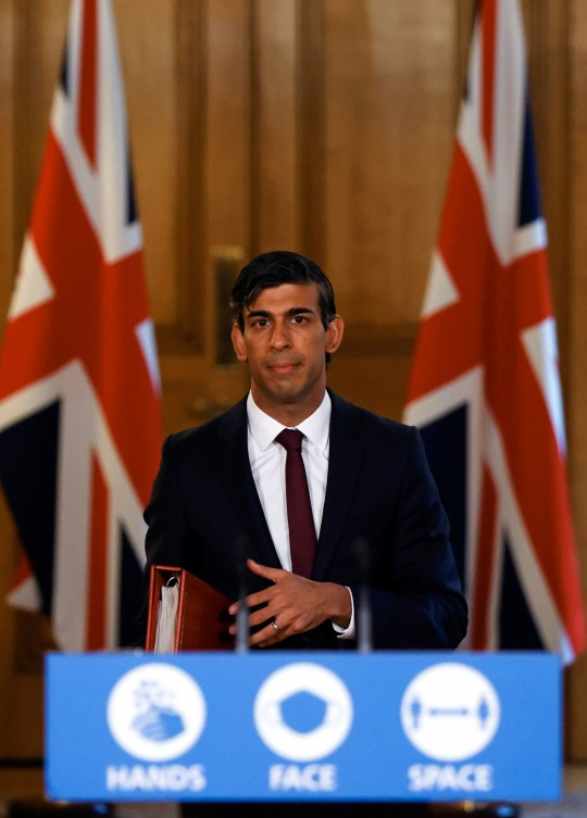 Chancellor of the Exchequer Rishi Sunak during a virtual news conference in Downing Street, London, after he presented his Winter Economy Plan to MPs in the House of Commons. PA Photo. Picture date: Thursday September 24, 2020. See PA story HEALTH Coronavirus. Photo credit should read: John Sibley/PA Wire