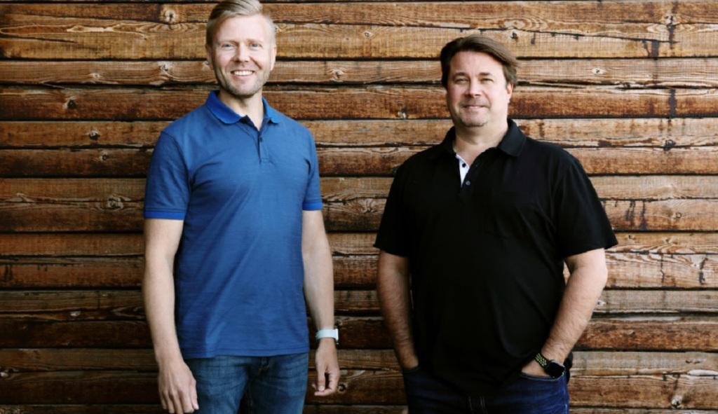 Metacore founders Mika Tammenkoski and Aki Jarvilehto.