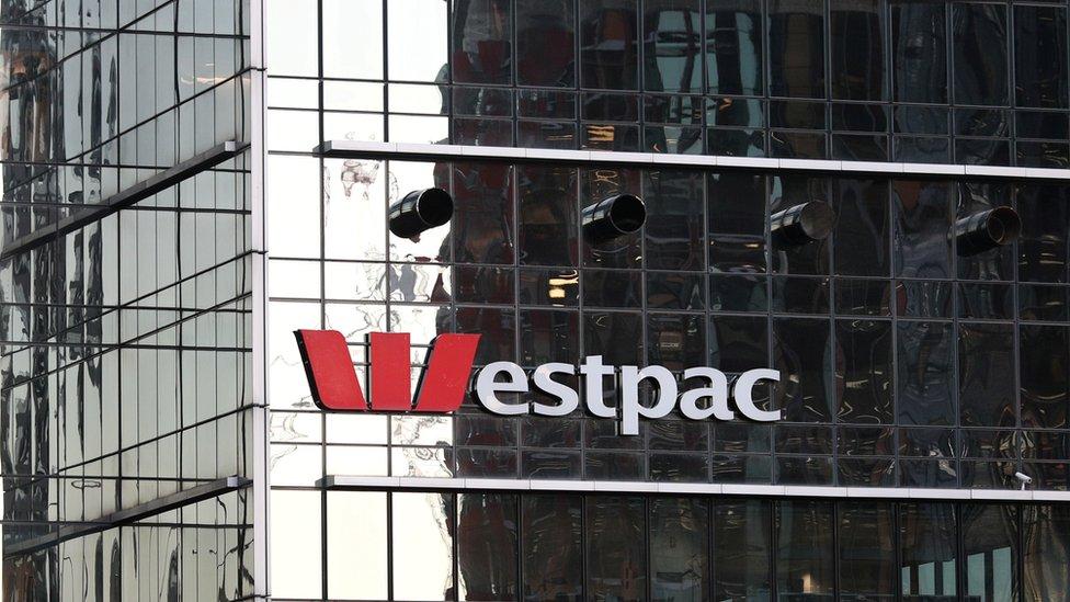 Facade of Westpac bank building