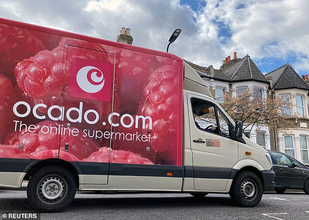 Delivering the goods: Ocado'sshare price has risen 92 per cent this year while Tesco stock is down 15 per cent