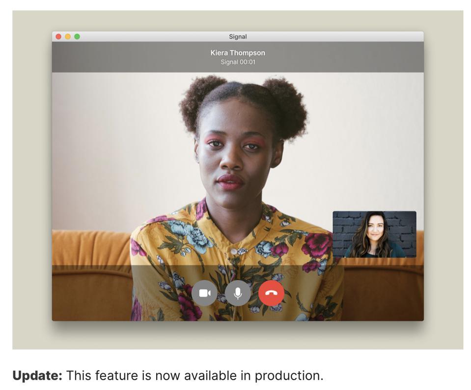 Desktop video calling