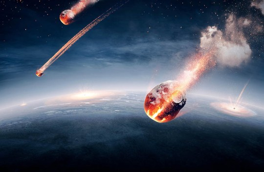 Meteorites raining down on Earth