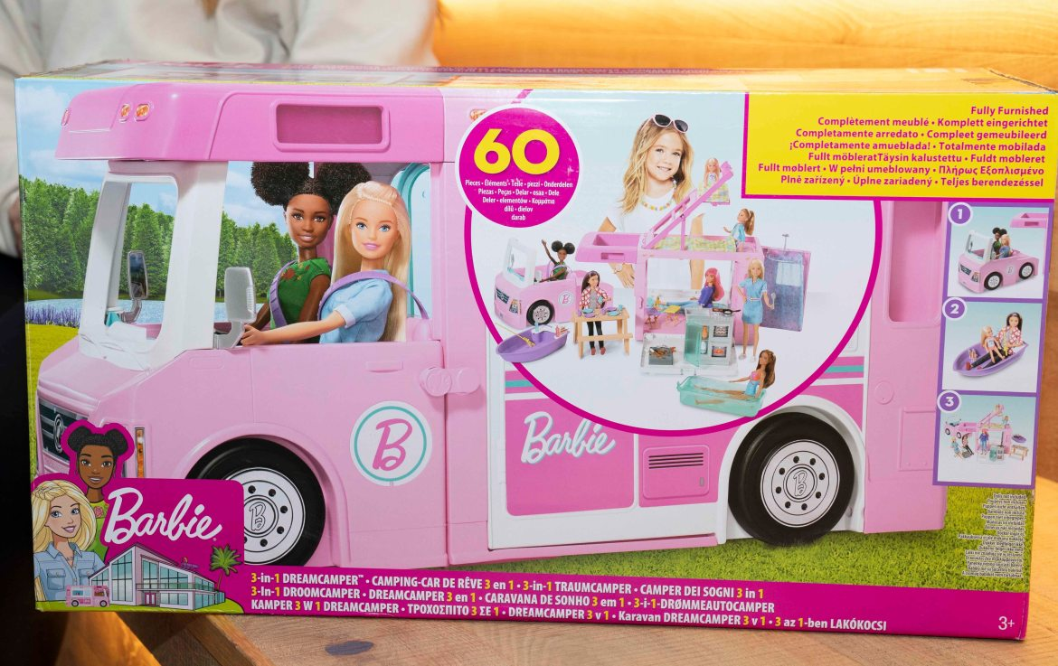 Barbie 3-in-1 DreamCamper, £79.99, is among the top 12 toys for Christmas