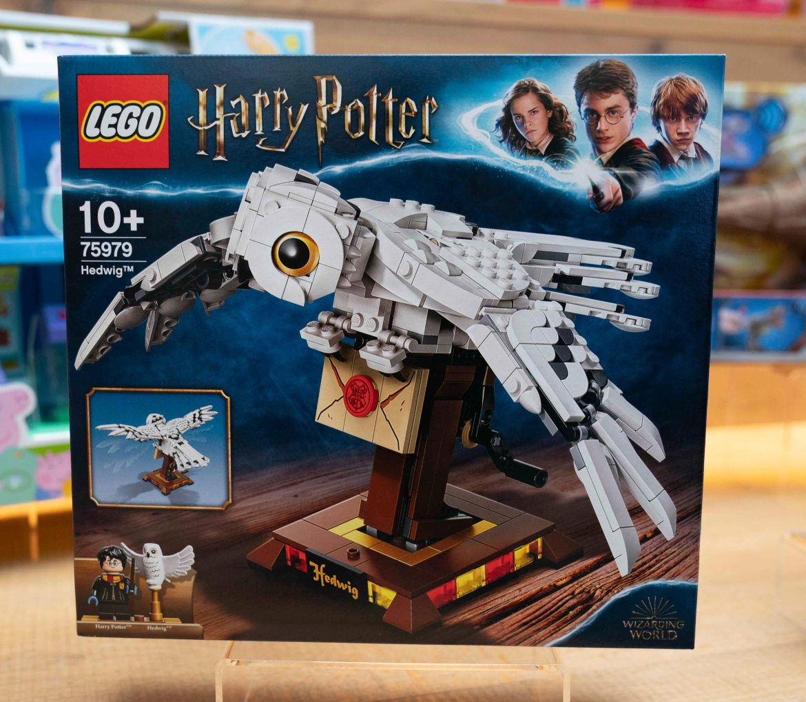 A LEGO set of Harry Potter's Hedwig, £34.99, is also popular