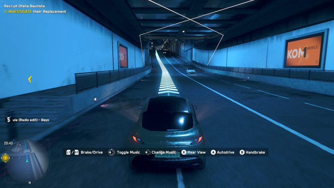 Driving in Watch Dogs