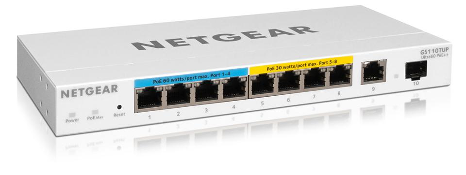 Netgear GS110TUP managed network switch