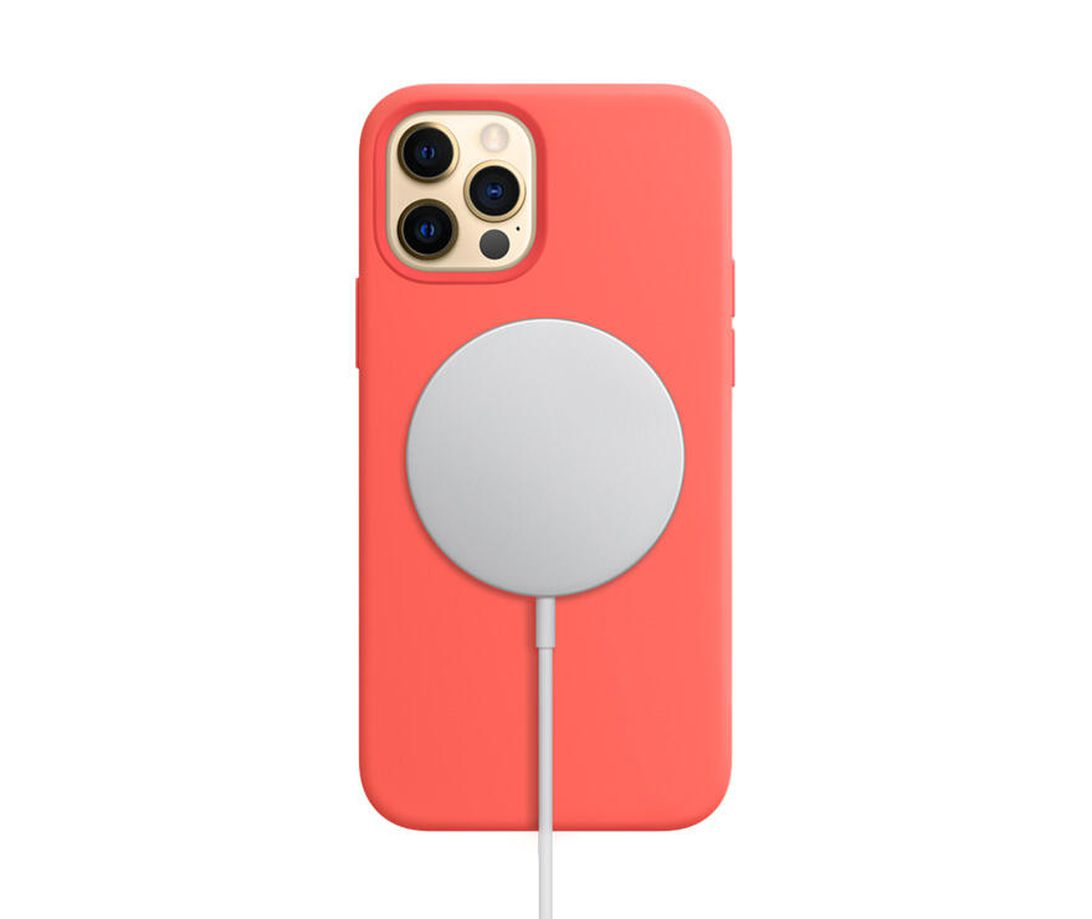 iPhone 12 Pro silicone coral Magsafe charger