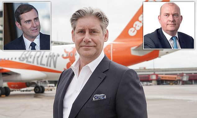 Top-ups: Hotels chief Keith Barr, top left, Compass¿s Dominic Blakemore, top right, and easyJet¿s Johan Lundgren, centre