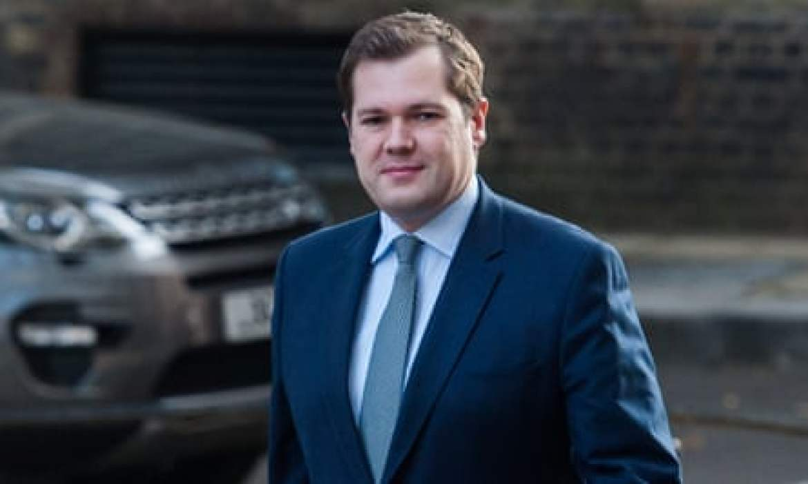 """A photograph of Robert Jenrick, the housing secretary. He said the Conservatives has a """"moral mission"""" to build more homes in England"""