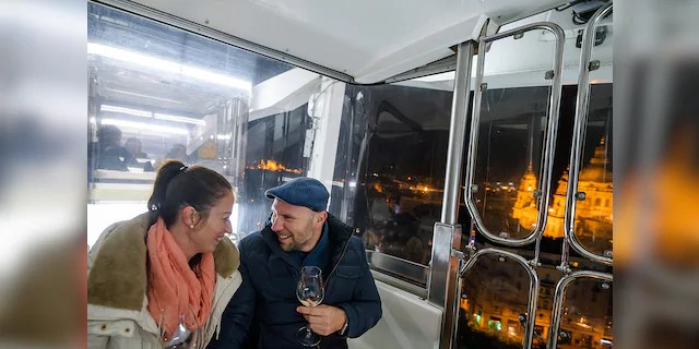 The Budapest Eye ferris wheel offered diners stunning views of the city as they ate.