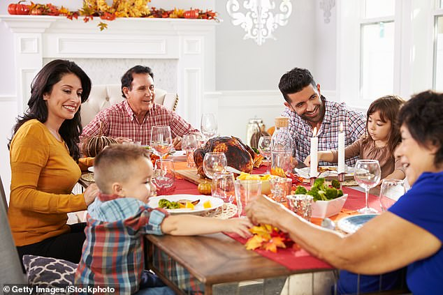 A new poll from CS Mott Children's Hospital, in Ann Arbor, Michigan, found that 35% of parents believed a large family gathering for Thanksgiving was worth the risk of contracting or spreading coronavirus (file image)