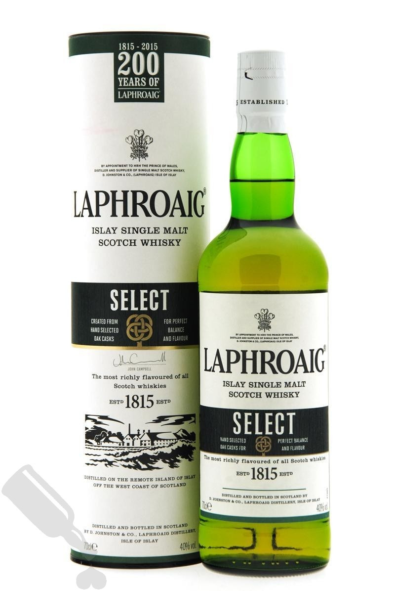 In Scotland, Laphroaig Select is down to £20
