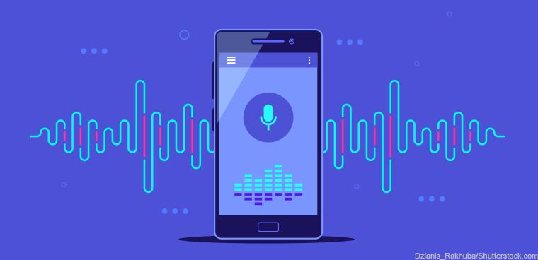 smartphone with microphone recording (Dzianis_Rakhuba/Shutterstock.com)