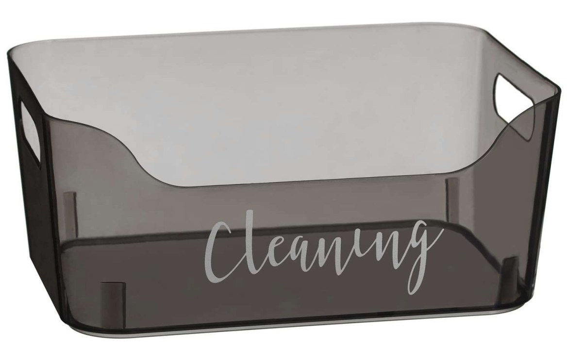 These trays are really useful to store your cleaning equipment