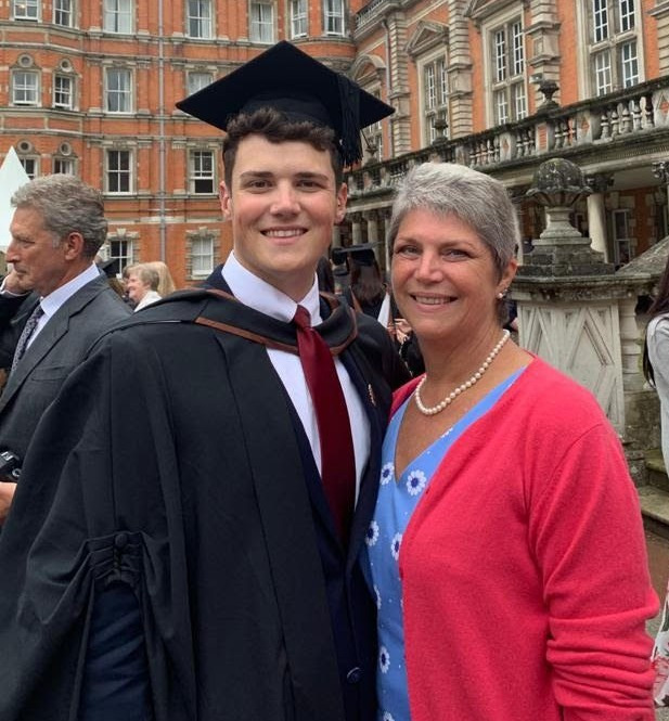 """Anne, pictured with her son Harry at his graduation, said: """"The fact this has given me an extra two years is great."""