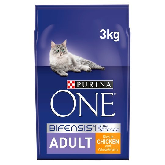 Feed your cat for less with the Purina One chicken and wholegrains cat food