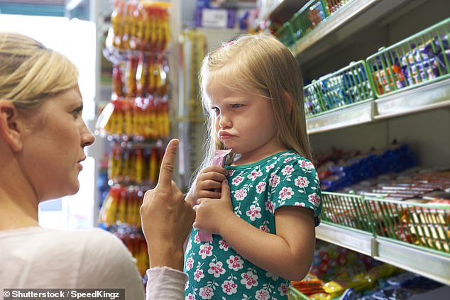 Troublesome children who have short tempers and regular tantrums are likely to run into trouble when they become middle-aged adults, a new study has found (stock image)