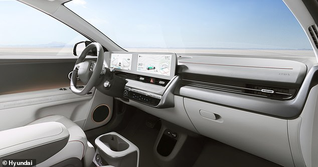 Dominating the cockpit is a 12-inch display with two screens - one for infotainment and the other acting as the instrument cluster for the driver