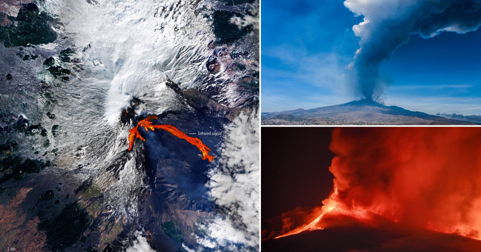 Mount Etna erupted this week in spectacular fashion (Getty Images)
