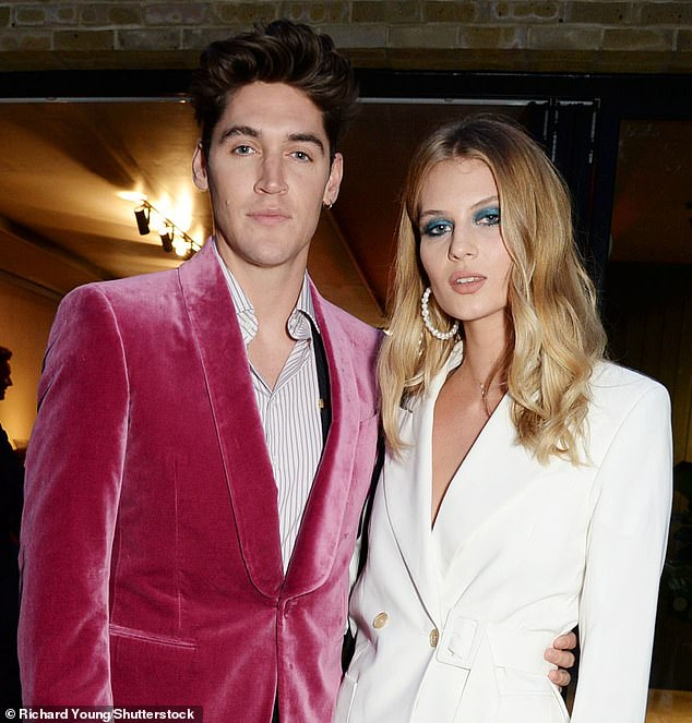 In the pink: Models Isaac Carew and Florence Kosky at a Thomas Pink event