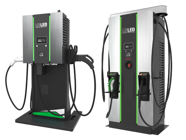 US LED TurboEVC Level 3 DC Fast Electric Vehicle Chargers