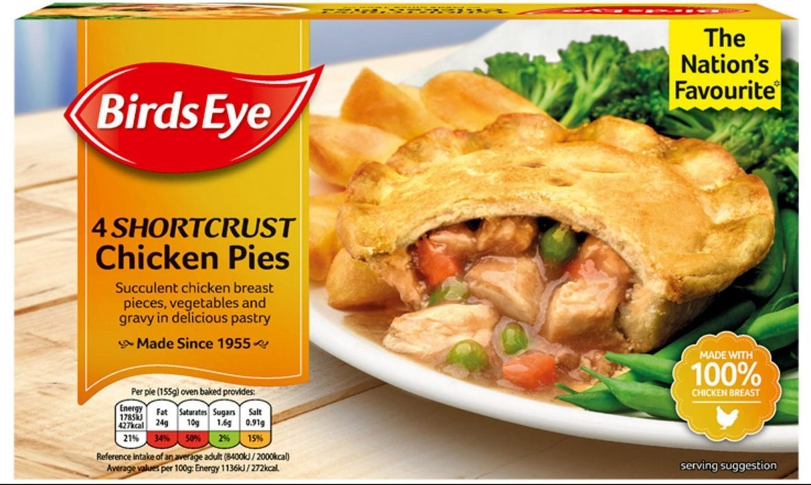 Pick up a pack of Birds Eye chicken pies for an affordable £2