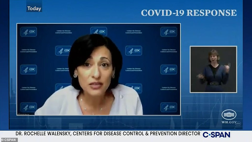 Dr Rochelle Walensky, director of the Centers for Disease Control and Prevention, said on Monday she was 'deeply concerned' as some states roll back COVID-19 restrictions