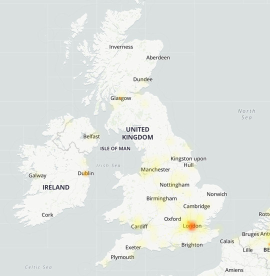 The Netflix outage appears to mainly affect London (DownDetector)