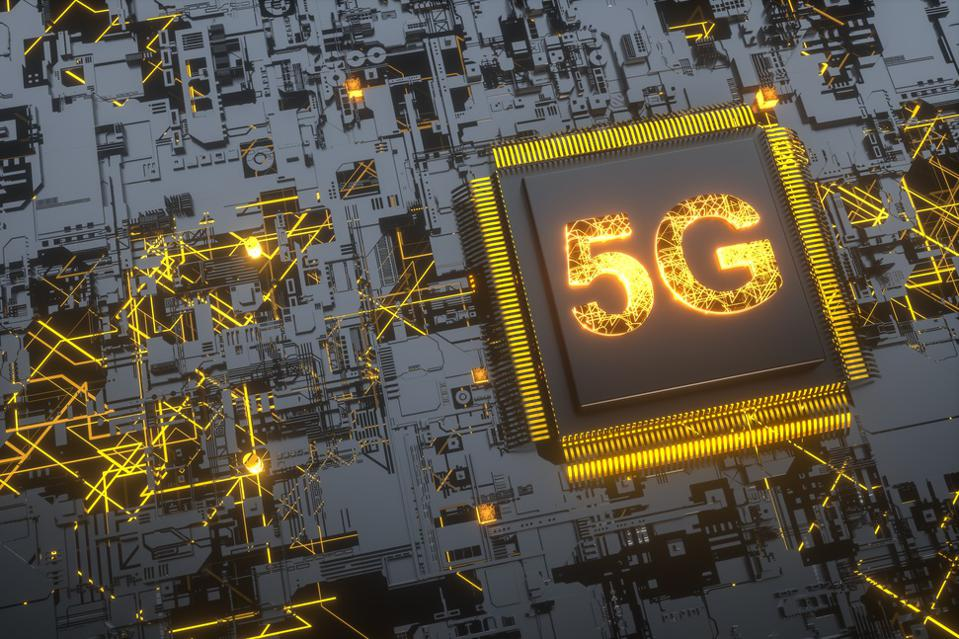 5g and AI concept:Digital Connectivity, Artificial Intelligence And Data Storage Concept. Modern Electronic Circuit Board