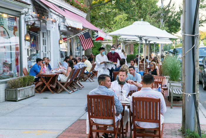 After a difficult summer, Pierre's in Bridgehampton has increased winter business because of the influx of New Yorkers
