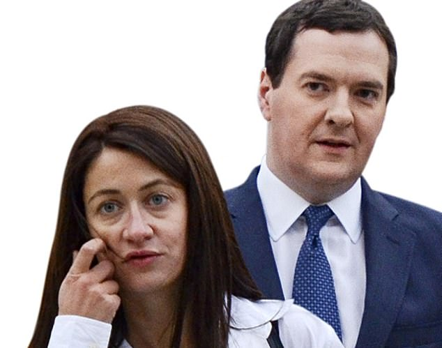 GeorgeOsborne (pictured with girlfriend Thea Rogers) edited the Evening Standard, earned £650,000 for four days a month work at Blackrock and was made a partner at Robey Warshaw