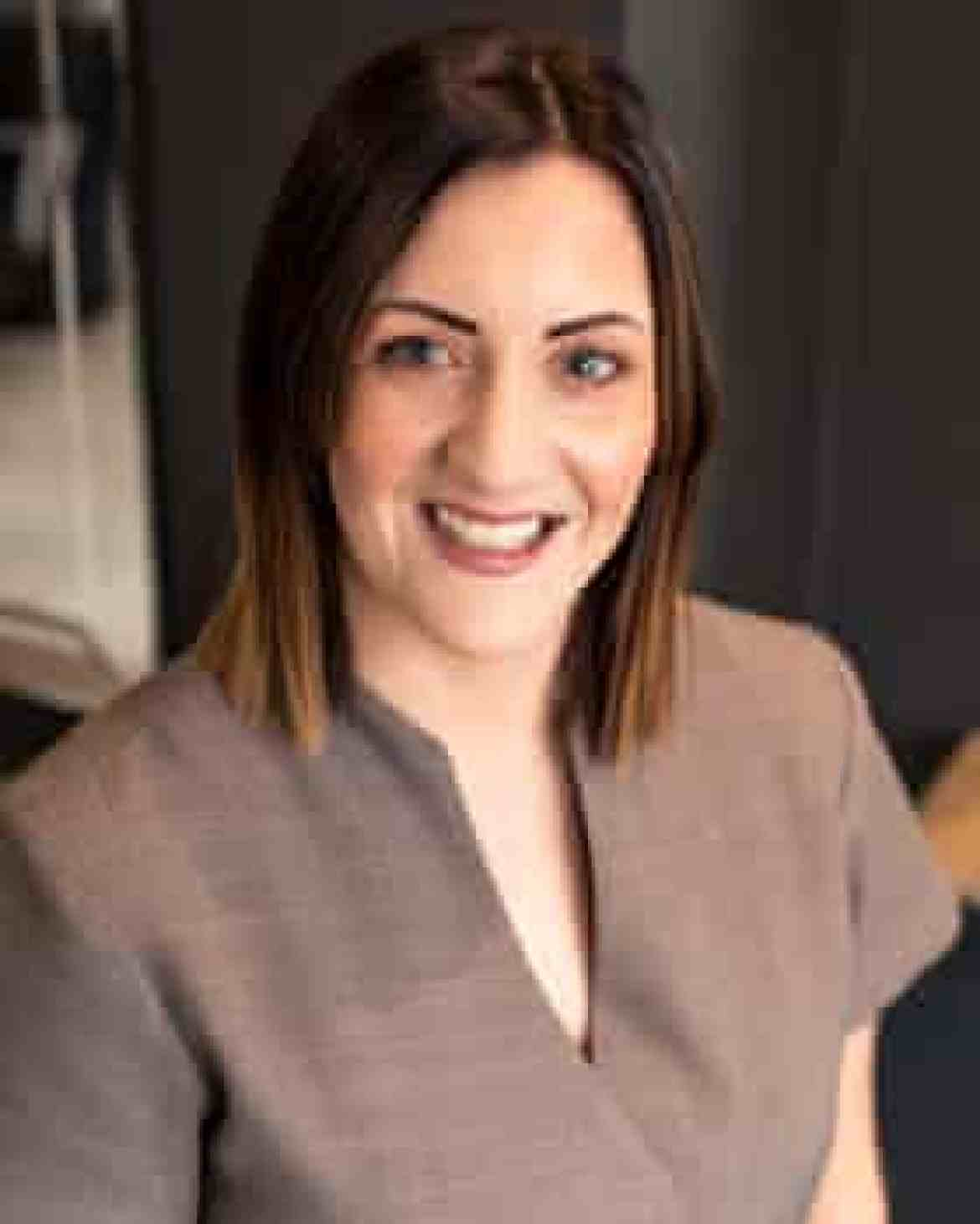 Emily Guerin, owner of a beauty salon in Edenfield, Lancashire.