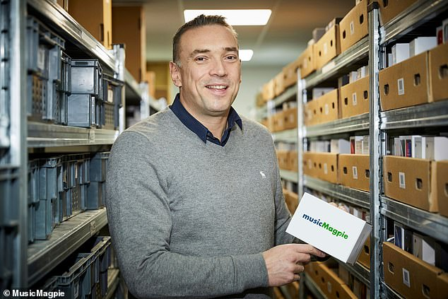 Steve Oliver (pictured) founded MusicMagpie with Walter Gleeson in a Stockport garage in 2007 and has described the company's business model as a 'lazy man's eBay'
