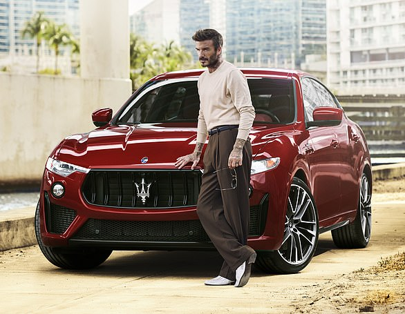 Best foot forward: David Beckham says it is an exciting time for him to begin a partnership with Maserati