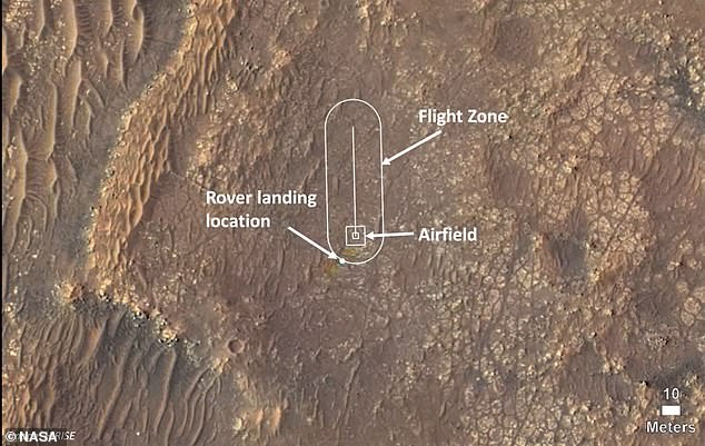 Ingenuity took off from a 30-by-30ft strip of land on Mars at 3:34amET, but was christened during the briefing that shared updates of the helicopter. It has now been named 'Wright Brothers Field'